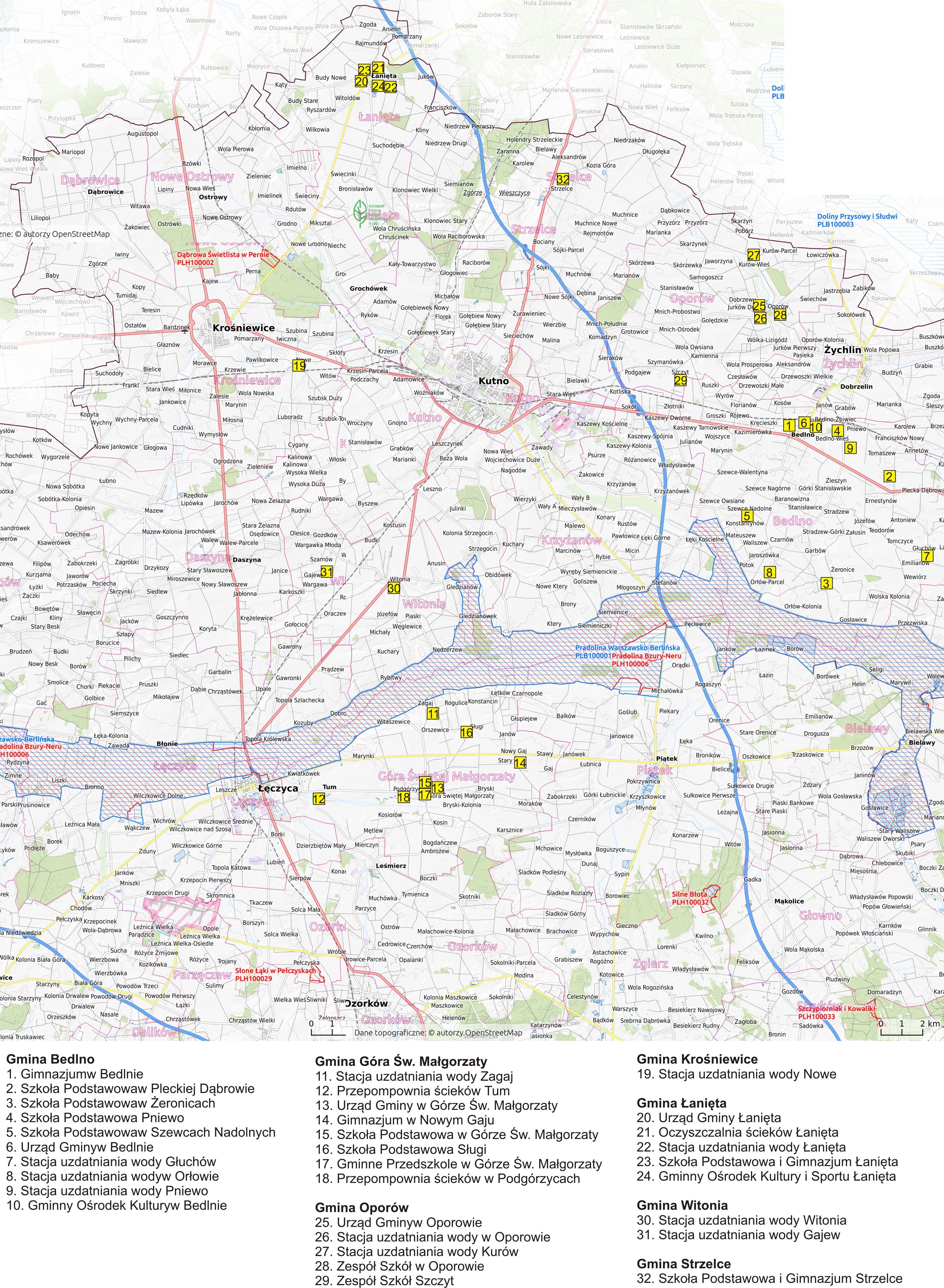 Mapa lokalizacji w województwie