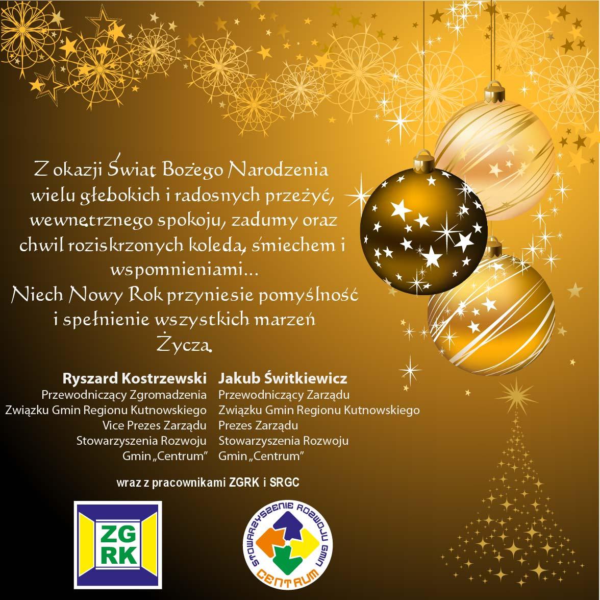 Życzenia świąteczne 2010/2011